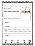 Cooking Recipe Sheet