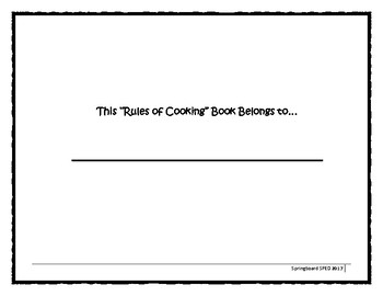 Cooking Rule Coloring Book