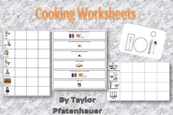 Cooking Skills and Worksheets