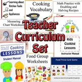 Cooking Teacher Curriculum Set -Lesson Manuals, Cooking Posters, Worksheets