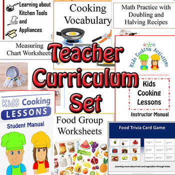 Cooking Teacher Curriculum Set for ADULTS