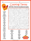 Cooking Terms Word Search Puzzle