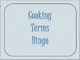 Cooking Terms Bingo