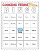 Cooking Terms Bingo Game