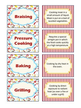 Cooking Terms Matching