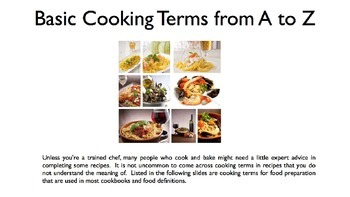 Cooking Terms PowerPoint