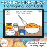 Following Cooking Directions Thanksgiving Cook Boom Cards   Visual Supports