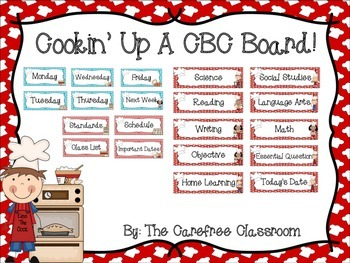 CBC and Class Info Board: Cooking Themed