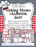 Cooking Theme Classroom Decor- EDITABLE!