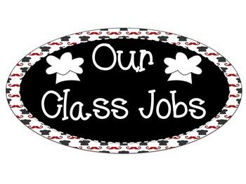 Cooking Theme Editable Classroom Jobs