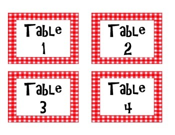 Cooking Theme/Picnic Theme Labels