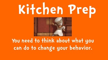 Cooking Themed Behavior Chart