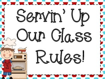 Class Rules: Cooking Themed