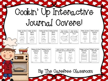 Cooking Themed Interactive Journal Covers