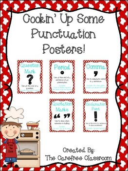Cooking Themed Punctuation Posters