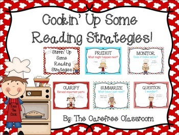 Cooking Themed Reading Strategy Posters