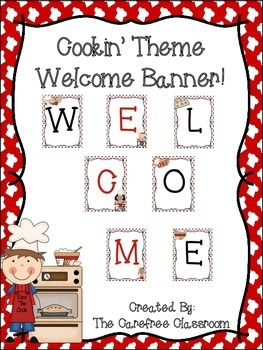 WELCOME Banner: Cooking Themed