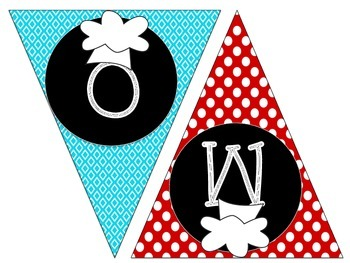 Welcome Pennant: Cooking Themed