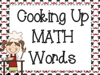 Word Wall Signs: Cooking Themed