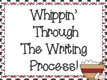 Writing Process Posters: Cooking Themed