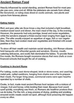 Cooking Throughout History
