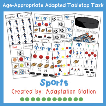 Sports Adapted Theme Tabletop Tasks