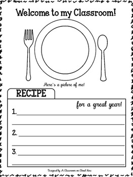 Cooking Up A Great Year! {Your Back to School Night Survival Kit} *Editable*