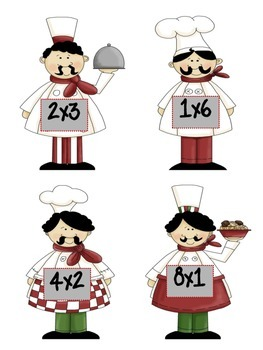 Cooking Up Arrays {Multiplication Match-Up Cards and Games}