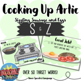 Cooking Up Artic S and Z, Boom Cards Speech Therapy, Stopping, S Articulation