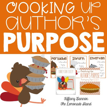 Cooking Up Author's Purpose: Thanksgiving Style