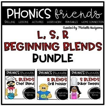 Cooking Up Blends (Activities for learning beginning blends)