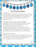 Cooking Up Communication Parent Letter