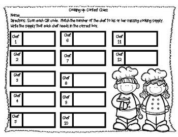 Cooking Up Context Clues- QR Code
