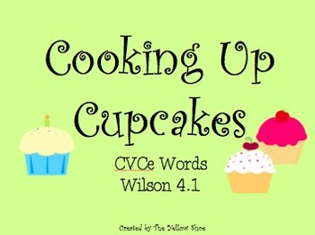 Cooking Up Cupcakes - CVCe Word Game