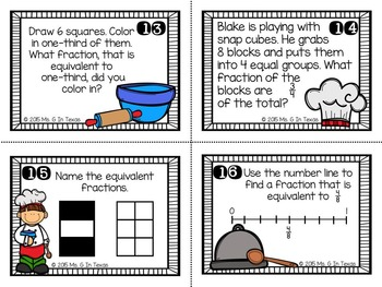 Cooking Up Equivalent Fractions Task Cards