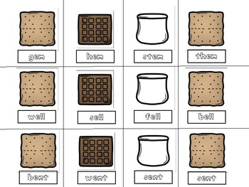 Cooking Up S'mores Word Families: short e