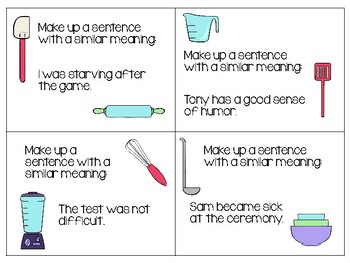 Cooking Up Sentences