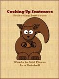 Cooking Up Sentences - Seasoning Sentences