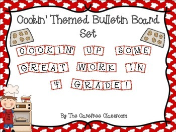 Bulletin Board Set: Cooking Up Some Great Work