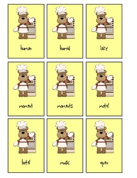 Cooking Up Some Vowels- Long and Short Vowel Card Game