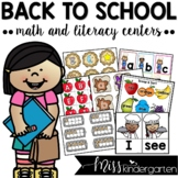 Back to School Activities {Math and Literacy Centers for K
