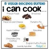 Cooking Visual Recipe: 8 Recipes BUNDLE Special Education SymbolStix