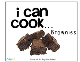 Cooking Visual Recipe: Brownies Special Education SymbolStix Editable