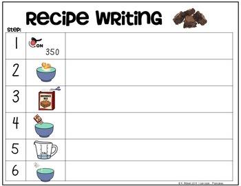 Cooking Visual Recipe: Brownies Special Education SymbolStix Editable