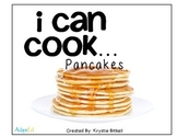 Cooking Visual Recipe: Pancakes Special Education Autism Symbolstix