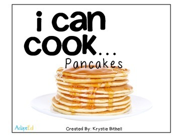 Cooking visual recipe pancakes special education autism symbolstix ccuart Choice Image