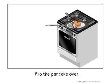 Cooking Visual Recipe: Pancakes Special Education Autism Symbolstix