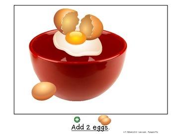 Cooking Visual Recipe:Pumpkin Pie Special Education Autism SymbolStix