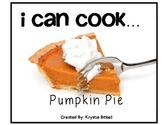 Cooking Visual Recipe:Pumpkin Pie Special Education Autism