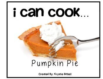 Cooking Visual Recipe:Pumpkin Pie Special Education Autism